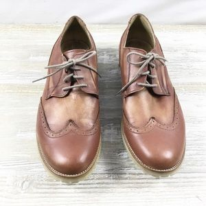 MENS: Steve Madden Distressed Leather Oxford Shoes